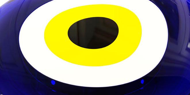 عين الحسود، العين الزرقاء
