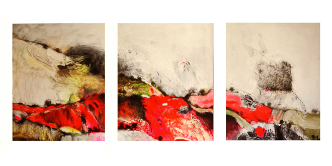 Day time trilogy 100x300cm, acrylic on canvas 2005 Hamad Al Henawi©