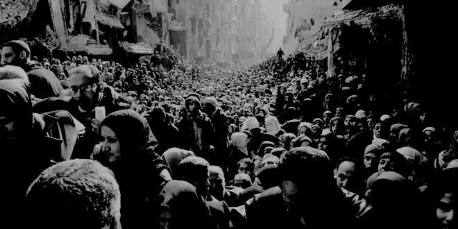النزوح من مخيم اليرموك ٢٠١٤