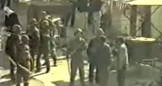 السويداء 11 تموز/يوليو 2000، لقطة من فيديو نشر على حساب تنسيقية السويداء على يوتيوب
