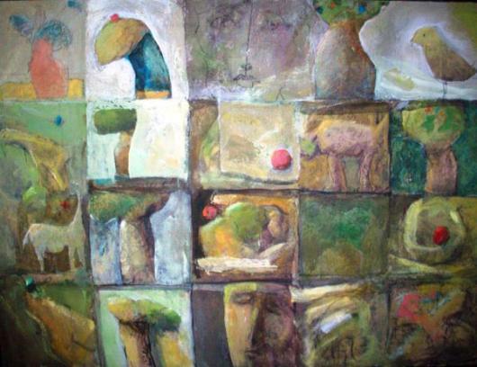 تشكيل للفنان السوري عدنان حميدة