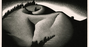 """Hill"" - Paul Landacre - Wood Engraving - 1936"
