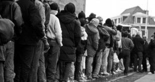 طابور من اللاجئين في ألمانيا